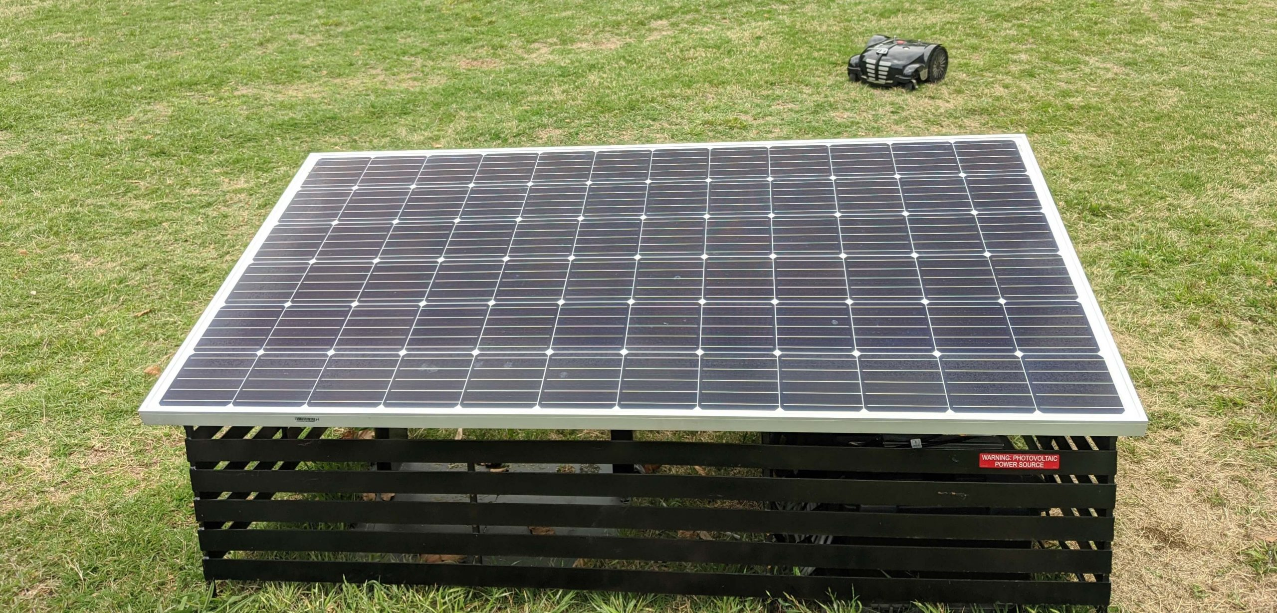 powershed solar mower charger