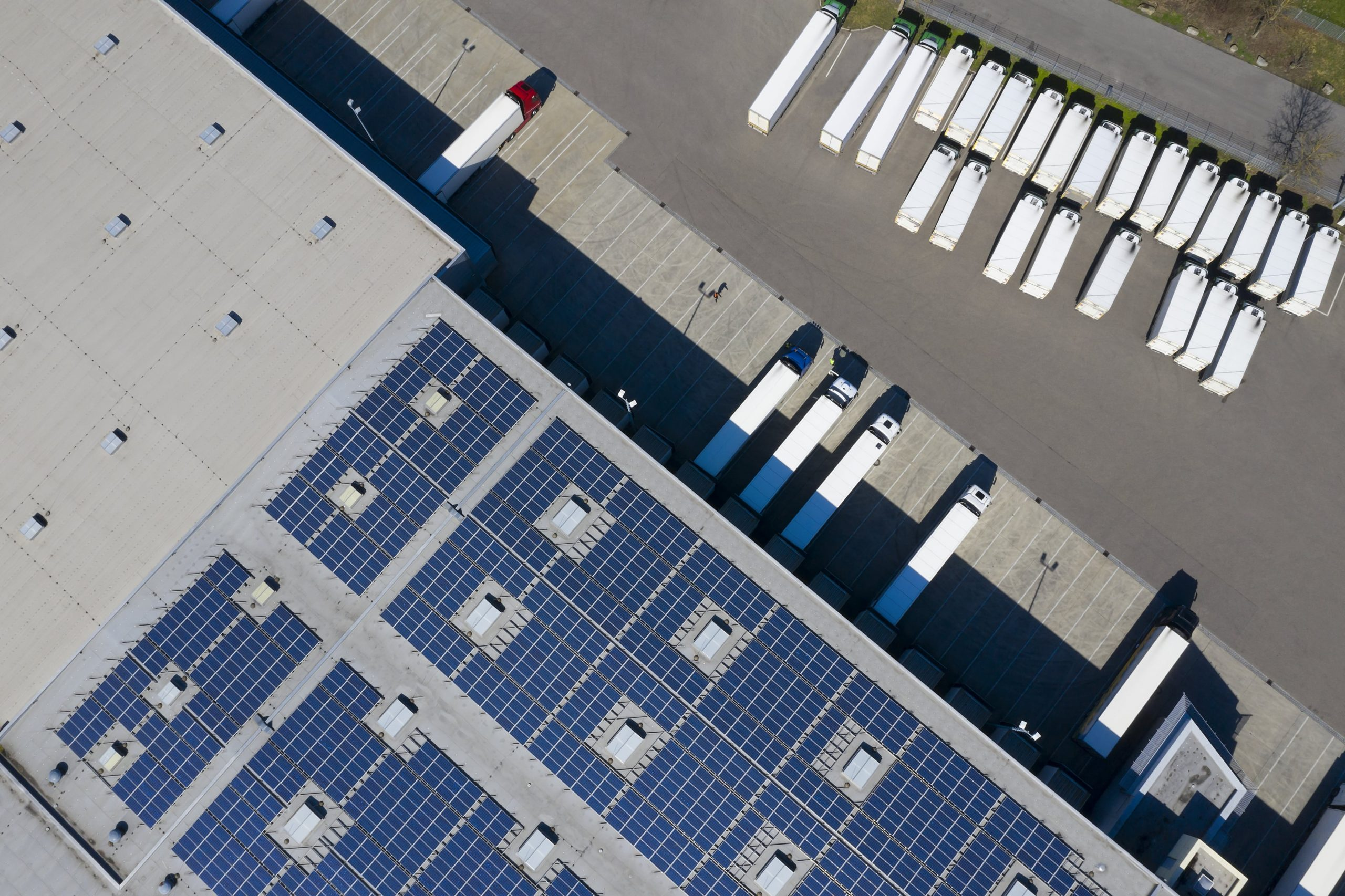 warehouse with solar panels