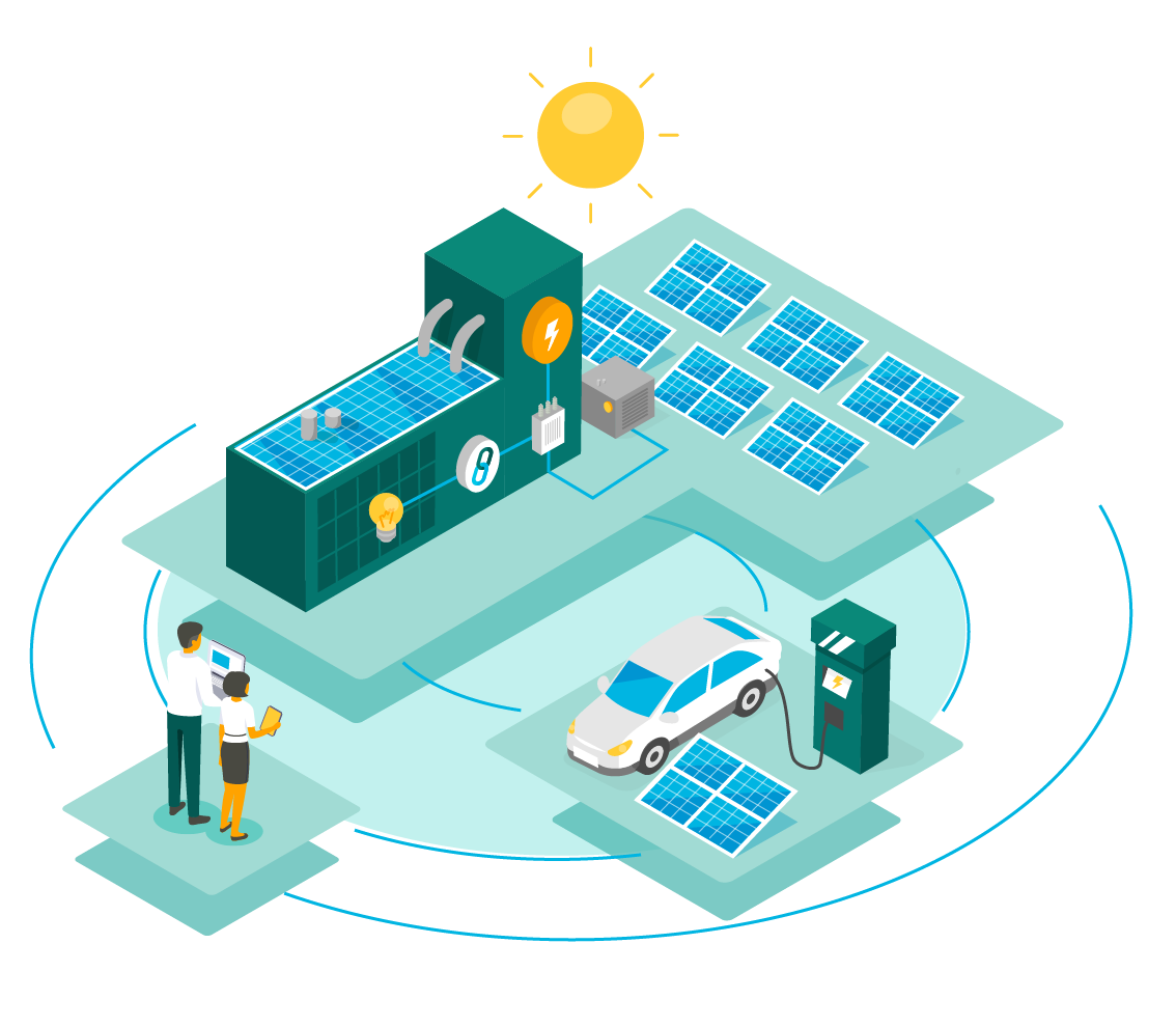 how commercial solar power works