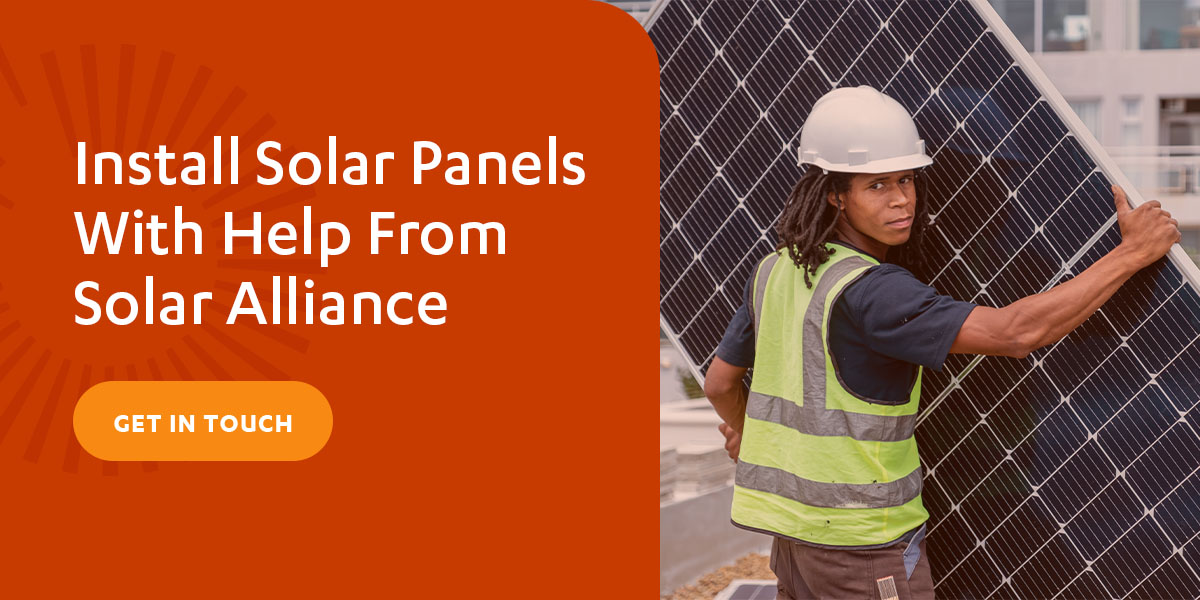 install solar panels with help from solar alliance